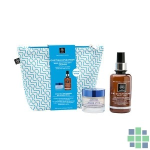 Apivita AQUA VITA Crema Hidratante Avanzada y Revitalizante para Pieles Normales + 3 en 1 Leche Limpiadora