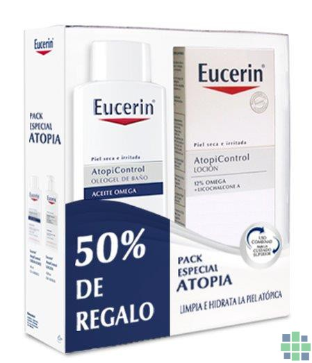 Eucerin Pack AtopiControl Loción + Oleo Gel 2 x 400 ml