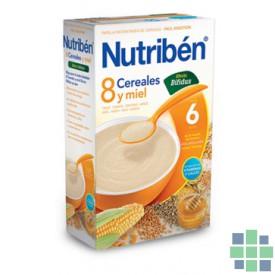 Nutriben 8 cereales con un toque de miel efecto bifidus 600 g.
