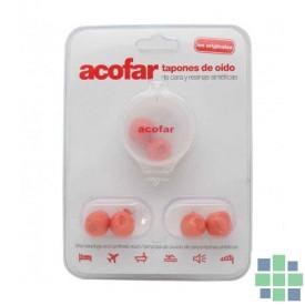 Acofar tapones de oído de cera y resinas sintéticas