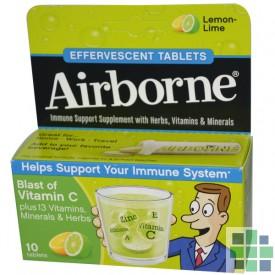 Comprar Airborne vitaminas sabor limon 10 comp efervescentes