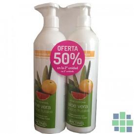 Bactinel leche corporal aloe vera y acidos frutales 2x400ml