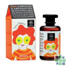 Apivita KIDS Gel para cabello y cuerpo con miel y mandarina 250 ml