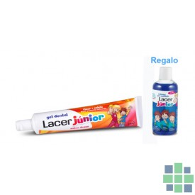 Pack Lacer Junior Gel Dental 75 ml + REGALO Enjuague Pre-cepillado 100 ml