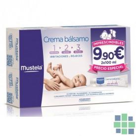 Mustela pack crema bálsamo 1-2-3   2x100ml