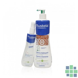 Mustela Pack Gel Dermolimpiador 750ml + Agua de colonia 200ml