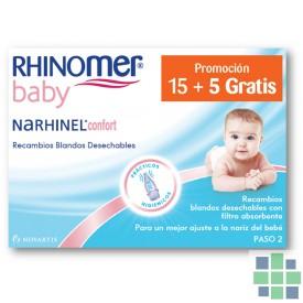 Narhinel Confort Recambios Blandos 20 Ud