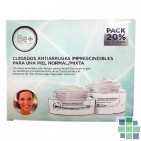 Be+ Pack Crema antiarrugas piel normal/mixta + Contorno de ojos reparador intensivo