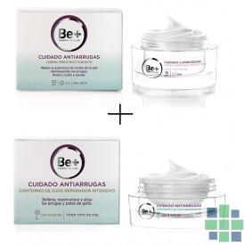 Be+ Pack Crema antiarrugas piel seca+ Contorno de ojos reparador intensivo