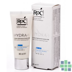 Roc hydra+ ligera crema hidratante confort 24h 40ml
