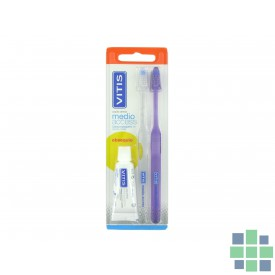 Vitis duplo cepillo dental medio access
