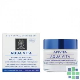 Apivita AQUA VITA Crema-Gel Hidratante Avanzada y Revitalizante para Pieles Grasas-Mixtas 50 ml
