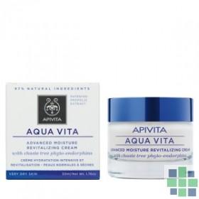 Apivita AQUA VITA Crema Hidratante Avanzada y Revitalizante para Pieles Muy Secas 50 ml