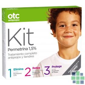OTC Kit Antipiojos Loción+ Acondicionador+ Repelente